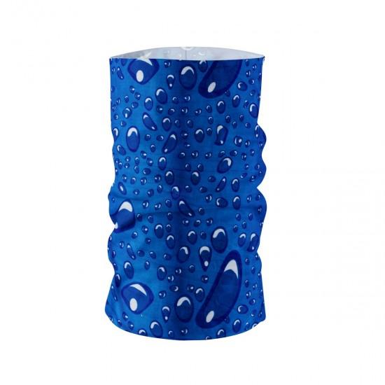 Многофункционална кърпа за лице синя на капки