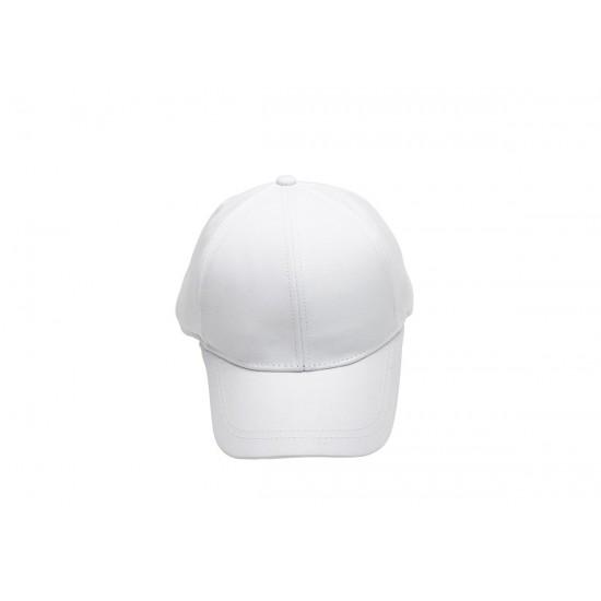 Детска шапка с козирка в бяло