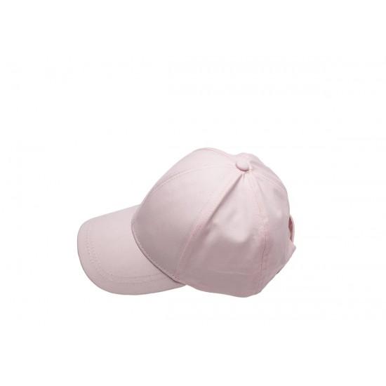 Детска шапка с козирка в розово