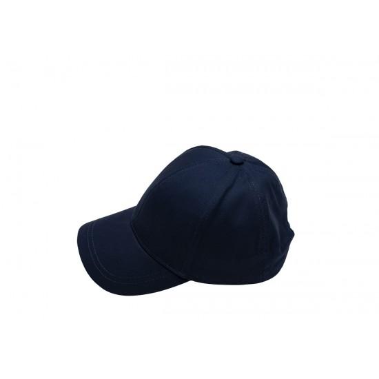 Детска шапка с козирка в тъмносиня