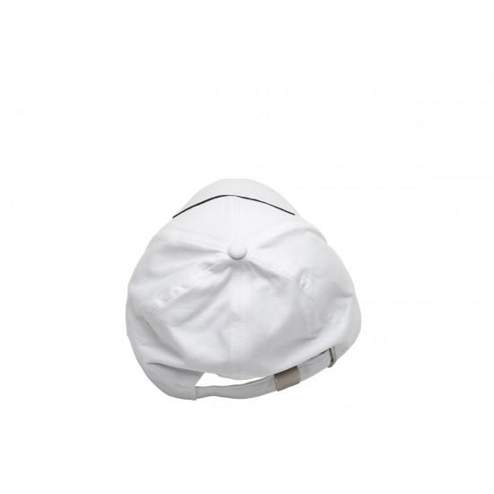 Бяла шапка с козирка надпис България