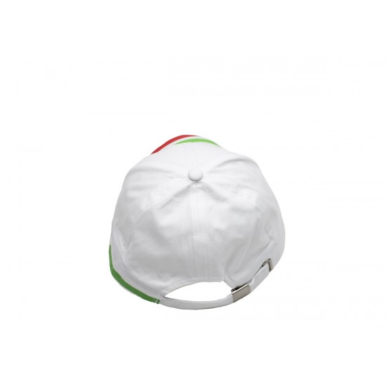 Бяла шапка с надпис България и трикольор