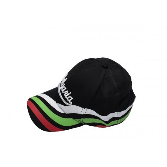 Черна шапка с надпис България и трикольор