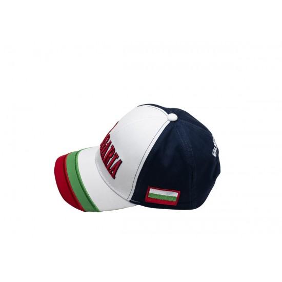Детска шапка с козирка България синя