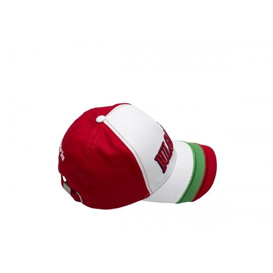 Детска шапка с козирка България червена