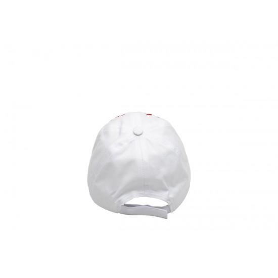 Детска шапка с козирка за момичета в бяло