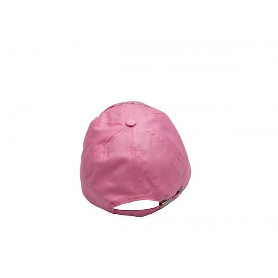 Детска шапка с козирка за момичета в розово Hello girl