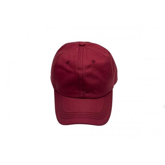 Бордо шапка с козирка