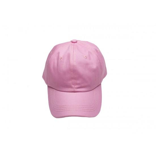 Розова шапка с козирка