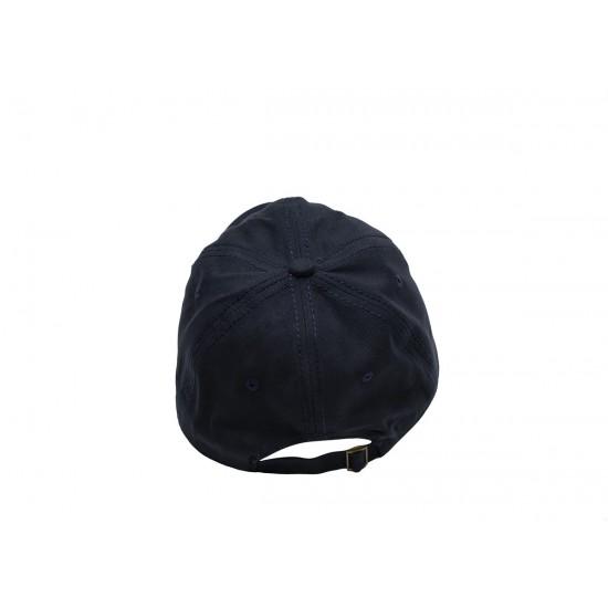 Тъмносиня шапка с козирка