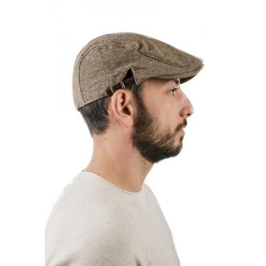 Мъжки зимен кафяв каскет