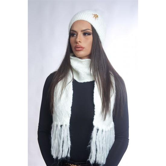 Дамски зимен бял комплект