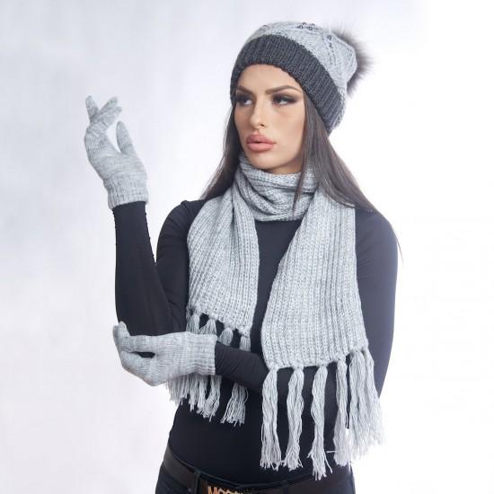 Дамски зимен  комплект смесен от три части