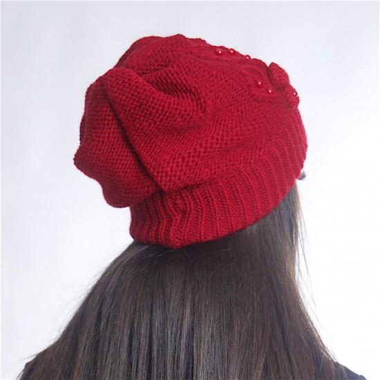 Дамски зимен червен комплект от три части