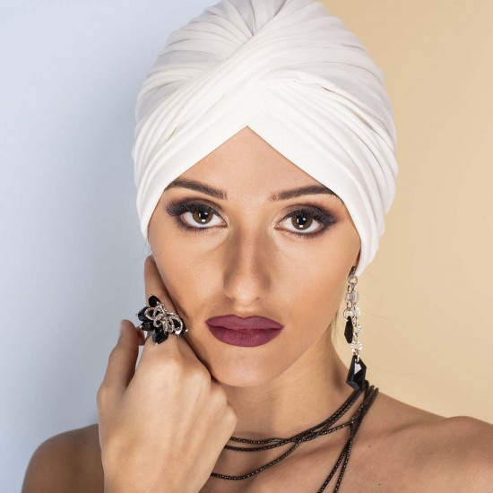 Дамски тюрбан бял