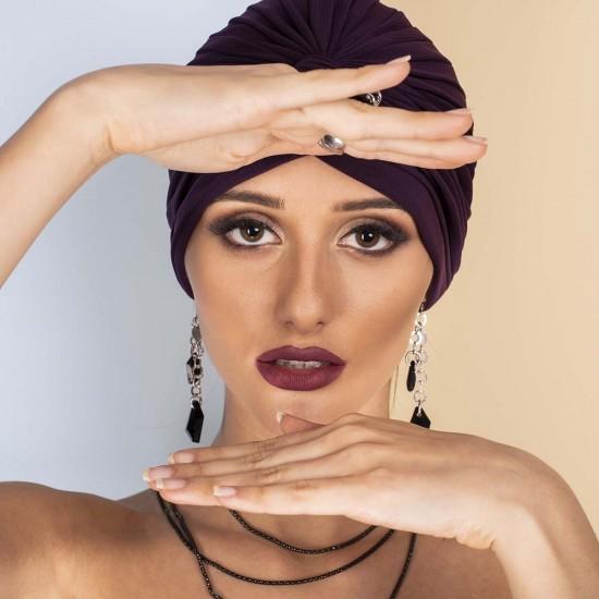 Дамски тюрбан в лилав