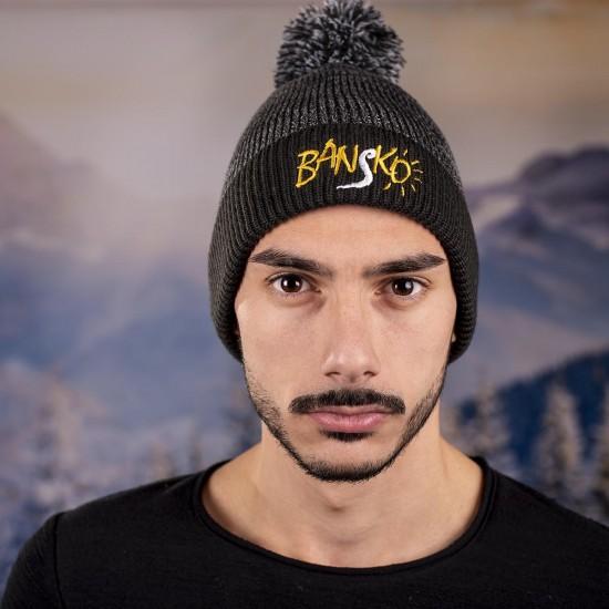 Мъжка зимна шапка с надпис Банско