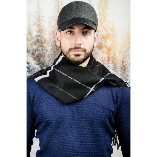 Вълнен мъжки зимен шал