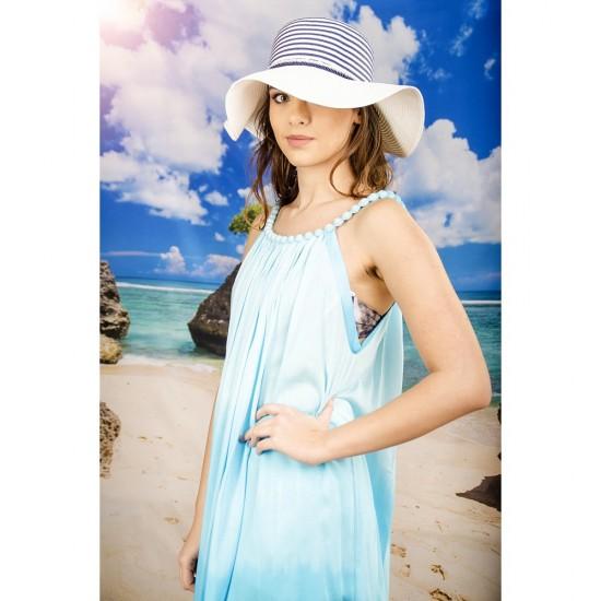 Плажна рокля в светлосиньо