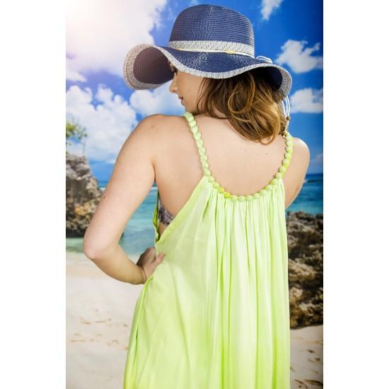 Плажна рокля в зелени нюанси