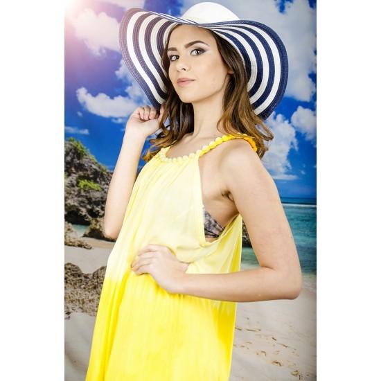 Плажна рокля в жълти нюанси