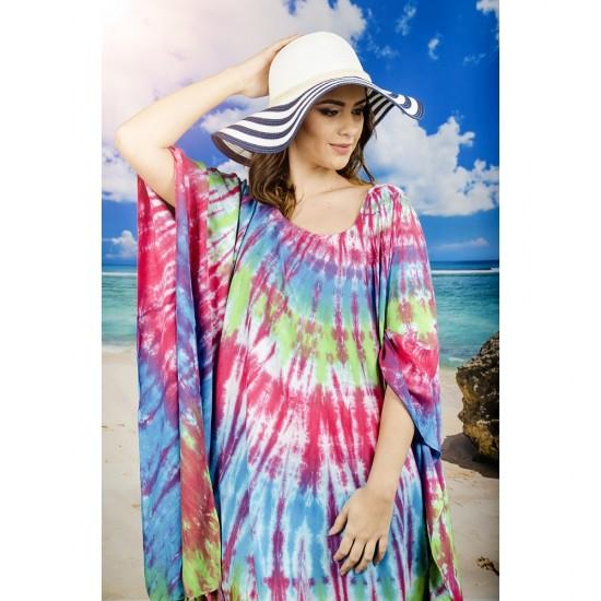 Плажна туника в наситени свежи цветове