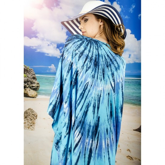 Плажна туника в сини нюанси