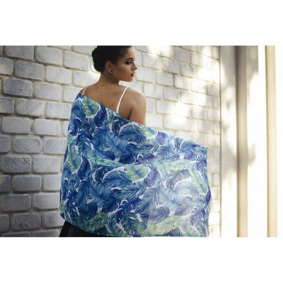 Дамски летен шал с палмови листа