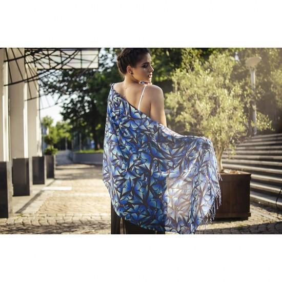 Дамски елегантен шал с пеперуди