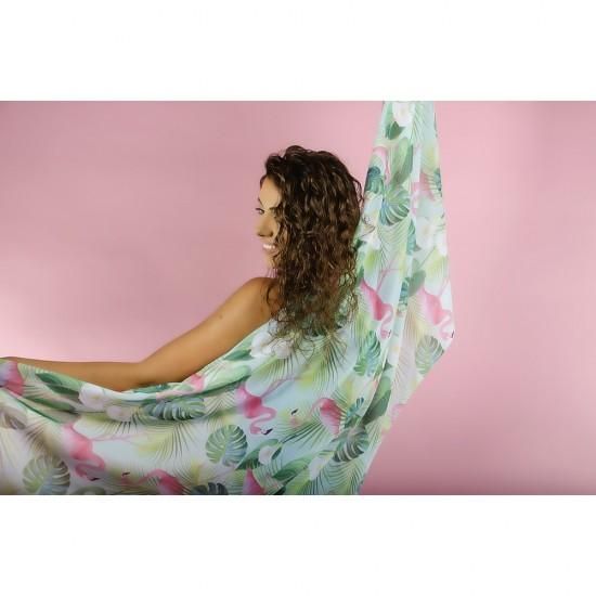 Дамски летен шал с фламинго