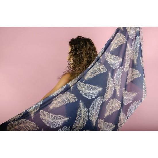 Дамски летен шал с пера