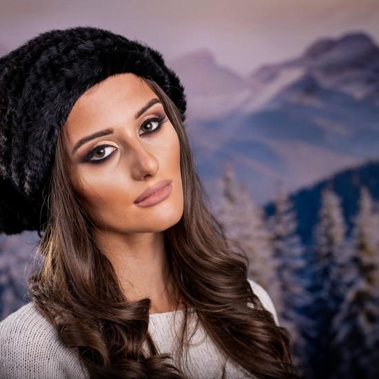 Дамска зимна шапка от норка