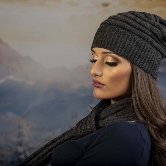 Дамски зимен сив комплект