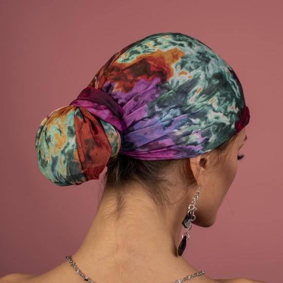 Многоцветен дамски тюрбан