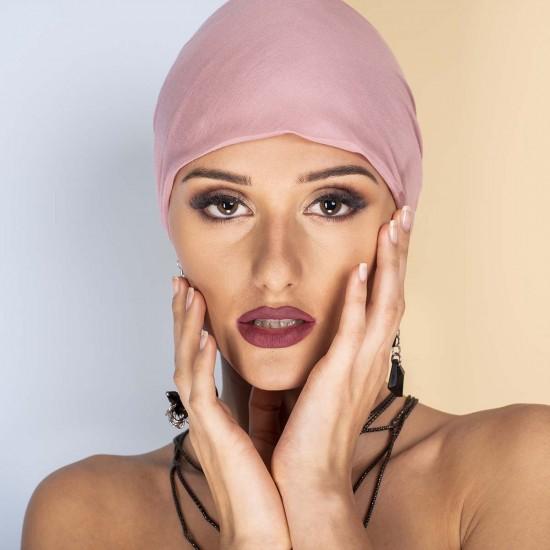 Дамски тюрбан в розово