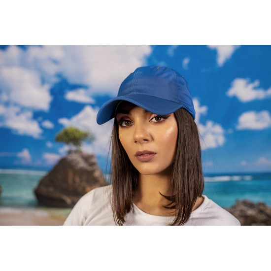 Шапка с козирка полиестер в синьо