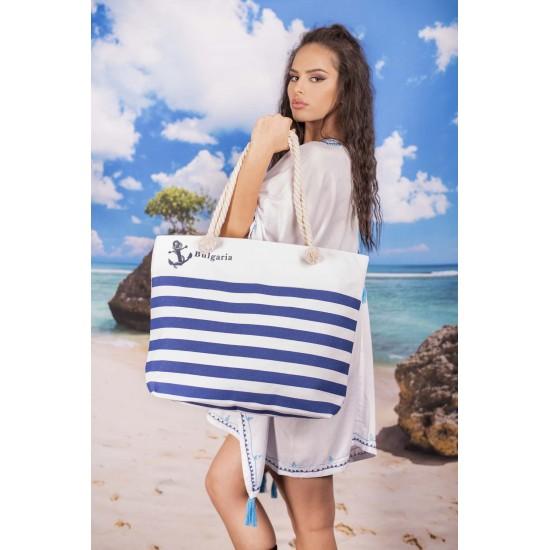 Плажна чанта на райе