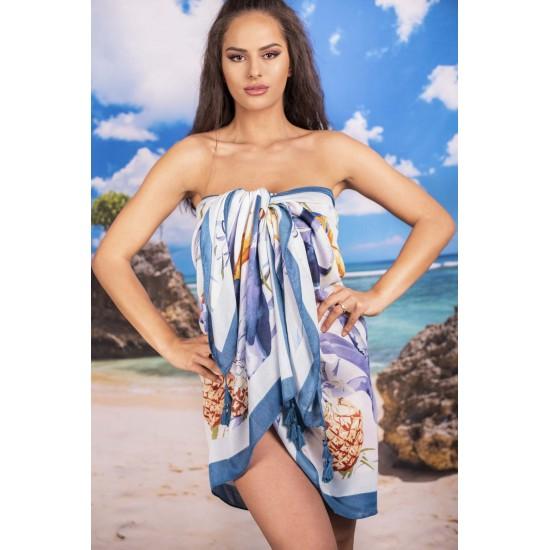 Плажен шал с ананаси