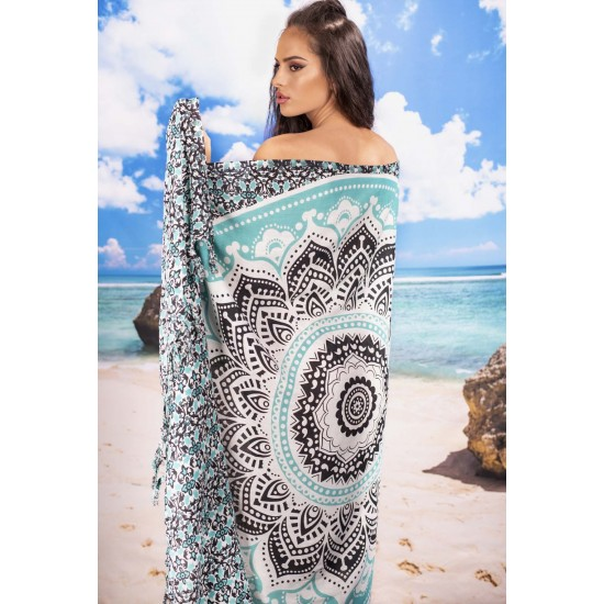 Плажен шал с мотив мандала