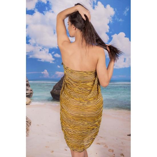 Ефирен плажен шал шарен
