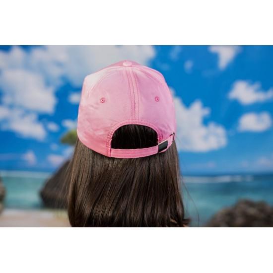 Дамска шапка с козирка в розово