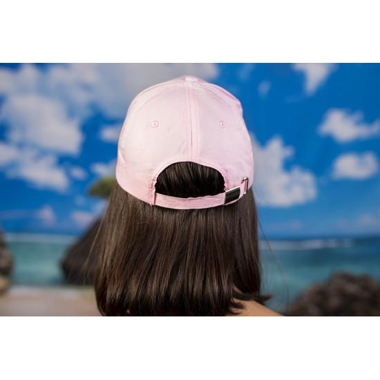 Дамска шапка с козирка в светлорозово