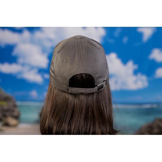 Дамска шапка с козирка в тъмносиво