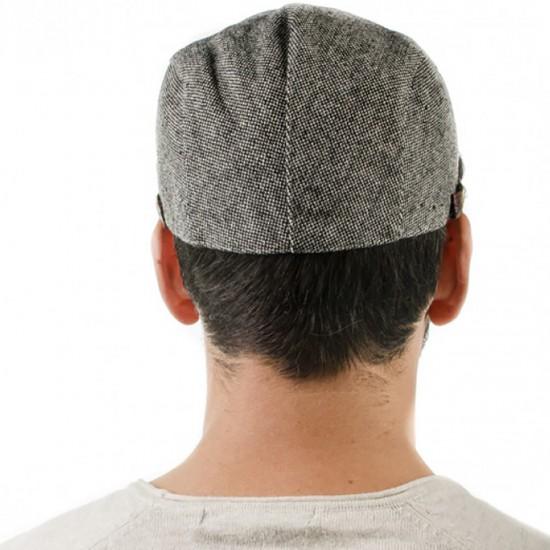 Мъжки зимен сив каскет