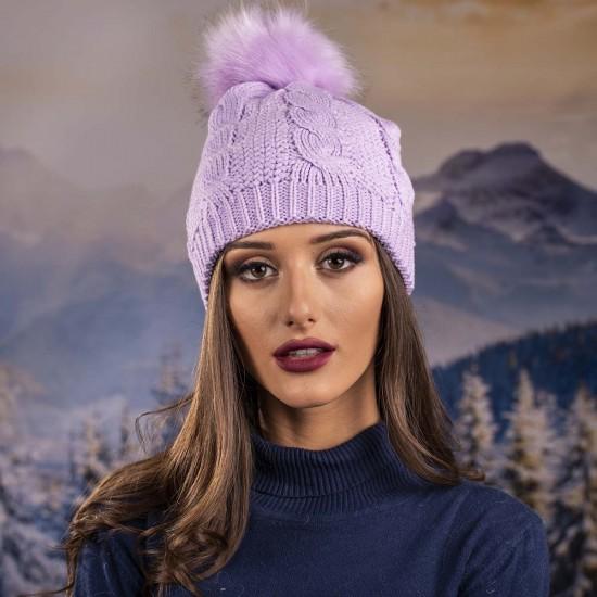 Бледолилава дамска шапка