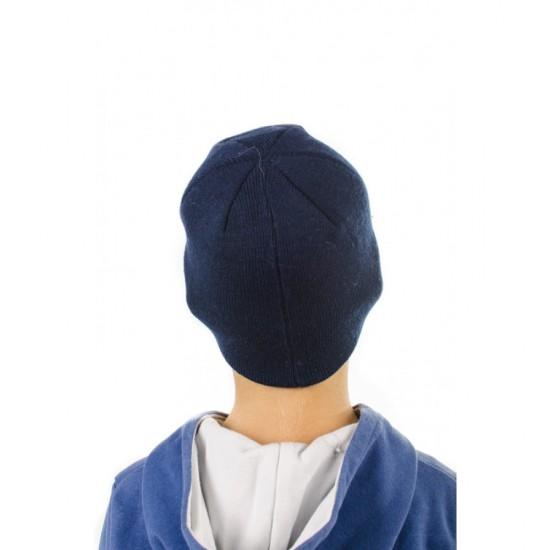Детска синя шапка със спайдърмен