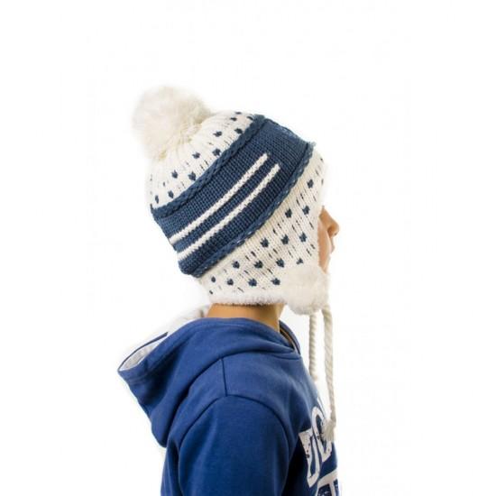 Зимна детска шапка тип ушанка